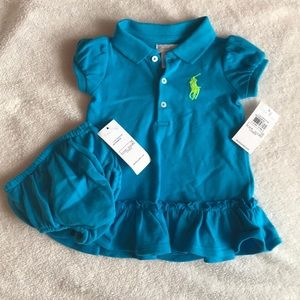 NWT Ralph Lauren dress with diaper cover